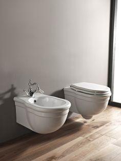 Inodoro y Bidé suspendidos Clasic-  Reformas - www.banysymes.es Deco, Toilet, Sweet Home, Bathtub, Interior Design, Bathroom, Kitchen, House, Interiors