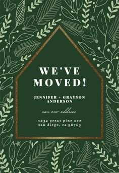 Foliage House Pattern - Moving Announcement #announcements #printable #diy #template #Moving #newaddress #newhome Moving Announcements, Text Messages, Create Yourself, Printables, Invitations, Island, Templates, Pattern, Diy