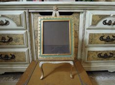 Vintage Easel / Italian Tole Picture / Portrait by AloofNewfWhimsy, $42.00