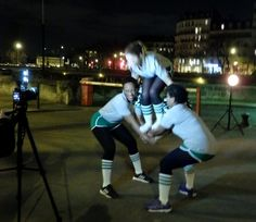 On tourne ! Moteur ! Team <3 cheerleaders #boostbastille