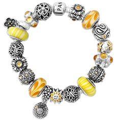 Pandora is available at Cornblooms! Pandora Beads, Pandora Jewelry, Charm Jewelry, Pandora Charms, Jewelry Art, Jewellery, Pandora Bangle Bracelet, Chamilia Jewelry, Jewelry Drawing