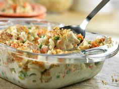Super Chicken Casserole. 6 points. This is very good. Easy to throw together. Mild flavor. Would be good with tuna instead of chicken.