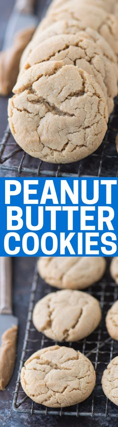 These peanut butter cookies are out of this world and always turn out perfect! They are chewy and fluffy, definitely a family favorite!