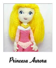 patron gratis amigurumi princesa aurora