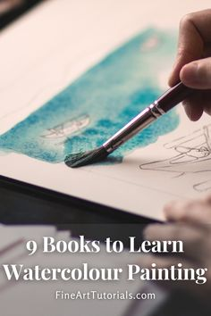 The best watercolour books for beginners, intermediate and professional level artists to improve skills and get inspired. #watercolor #watercolorbooks #booklist #artbooks #learnart #arttutorials #artforbeginners #artbook #artbooklist #watercolour #watercolorpainting #paintingbooks Learn Watercolor Painting, Watercolor Books, Watercolor Tips, Learn Art, Learn To Paint, Painting Lessons, Painting Tips, Painting Tutorials, Art Tutorials