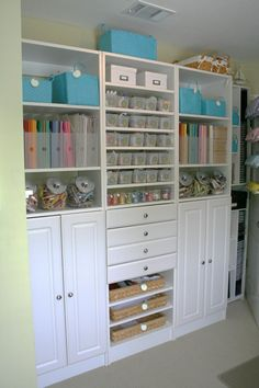 Cheap Craft Room Storage Cabinets Shelves Ideas 4
