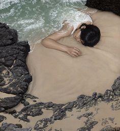 surreal paintings by moki. love the blanket of water.