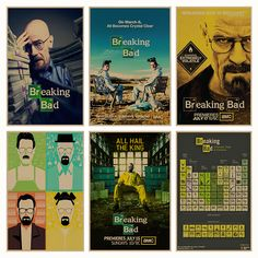 Breaking Bad movie retro Poster Retro Kraft Paper Bar Cafe Home Decor Painting Wall Sticker  Price: 2.04 USD
