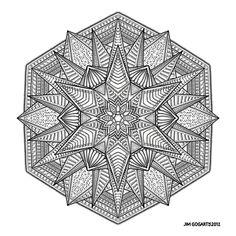 Free Printable Mandala Coloring Pages | Mandala hand drawing 53 by Mandala-Jim