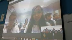 Aja Isma @Aja_Ismail A great session and fun with students in Morocco. It is about 7990 miles. We start with play Mystery skype. #SkypeaThon @SkypeClassroom