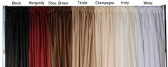 To buy with approval? White & Burgandy >>>> wide x long Sheer Voile Curtain Panel w/ 4 Pockets - Event Decor Direct - North America's White Sheer Curtains, Voile Curtains, Panel Curtains, Panel W, Uplighting Wedding, Event Decor Direct, Fabric Panels, Chiffon Fabric, Wedding Decor