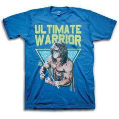 Ultimate Warrior Pose WWE Mens Blue T-shirt #WWE #GraphicTee