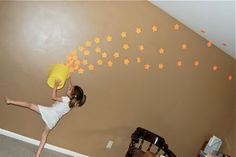 made with post its. fun for the kids, and a great photography prop too!