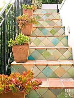 Terra-cotta isn't just for flowerpots. The versatile material also functions as a tile that can be found in a variety of colors and patterns and used in a number of spaces. For bathtubs, floor tiles, and more, these gorgeous uses for terra-cotta are sure to inspire.