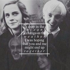 Imagen de draco malfoy, hermione, and malfoy