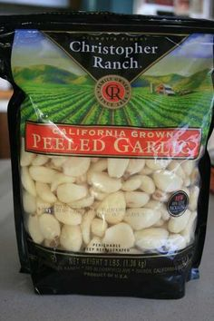 If you grow your own garlic at home, then this is probably not the recipe for you. But in case you know of an ethnic market where you can get pounds of fresh peeled garlic, then you might want to give these a try. Garlic Recipes, Bread Recipes, Pickled Garlic, Pickling, Christmas Treats, Preserves, Cucumber, Jelly, Jars