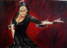 Tancerka flamenco1 37x29