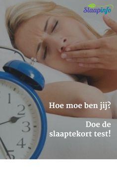 Hoe moe ben jij? Doe de slaaptekort test! #slapen #slaaptips #slaapkamer #slaapkamers