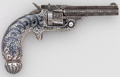 Smith and Wesson .32 revolver decorated by Tiffany & Co