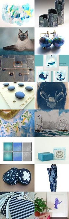 Working with the blues by Deb on Etsy--Pinned with TreasuryPin.com