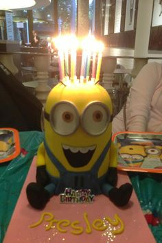 Cute minions cake! I love it!