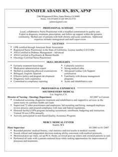 Oncology Nurse Resume Graduate Nurse Resume Example  Rn  Pinterest  Resume Examples