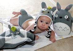 Totoro Crochet Lovie Blanket Anime Amigurumi Baby Blanket Baby Shower Gift Christmas Birthday Photo Prop Geek Snuggle Blanket