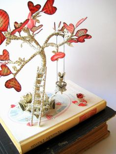 Book Disturbed - The Tree of Love / Altered Book - The Tree of Love