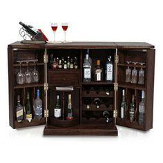 Caledonia Bar Cabinet (Mahogany Finish)