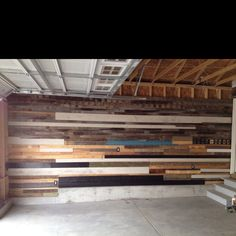 Old Wood Garage Wall