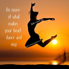 Do more of what makes your heart dance and sing. Κάνε περισσότερα από αυτά που κάνουν την καρδιά σου να χορεύει και να τραγουδά #positivethought #positivenergy #positivevibes #healingenergy #energyhealer #reikihealing #reikiteacher #reikihealer #lawofabundance #spiritualenergy #spiritualhealing #ascension #selfhelp #meditation #reiki #shamballa #channeling #session #seminar #attunement #usui #karuna #archangeliclove #archangels #archangelicreiki #healingmeditation #heart #love #dance…