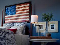 Lovely Patriotic Bedroom Ideas