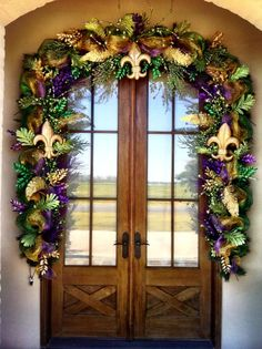 #JJ Louviere Designs!!! OUTSTANDING WORK!! <3 =) #Mardi Gras #Door Wreaths #Decorations