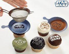 cupcake stencils de star wars