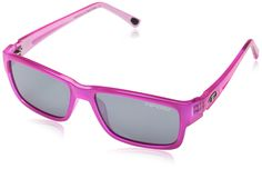 Tifosi Women's Hagen 1200401670 Wayfarer Sunglasses, Neon Pink, 51 mm. Made of grilamid tr-90, a homopolyamide nylon characterized by an extremely high alternative bending strength, low density, and high resistance to chemical and ultra violet damage hydrophilic rubber ear pads for a no-slip fit. Smoke perfect for cycling, running, and active sports when the sun is high and the sky is a deep blue the neutral tint of smoke lenses prevent color distortion. Includes a hard shell zippered…