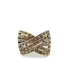 This Oxidized Bronze & Yellow Woven Ring by Amabel Designs is perfect! #zulilyfinds