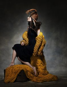 Enwraptured Erin Fee by Damian Foxe How to spend it, 2010 Knitwear Fashion, Knit Fashion, High Fashion, Crazy Fashion, Fashion 2014, Fashion Art, Missoni, Big Knits, Chunky Knits