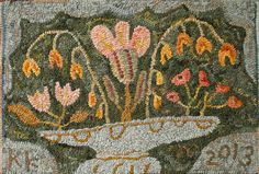 May Basket rug hooking pattern by primitivespirit on Etsy
