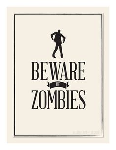 free halloween printable | beware of zombies