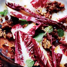 Seared Sweet Potatoes with Sausage and Radicchio #healthy