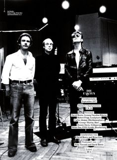 Robert Fripp, Brian Eno & David Bowie