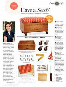 Rolling Storage Bench via Design Sponge
