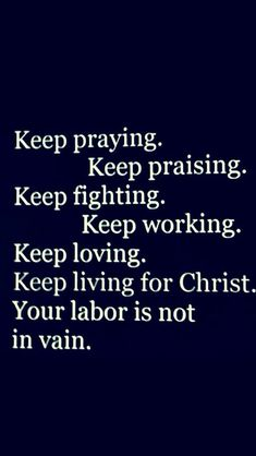 Keep Living For Christ.