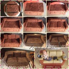 Just in case anyone fancied making a sofa cake of their very own! Read more at... Zoepops Cakes (FB) @ http://www.facebook.com/Zoepopscakes