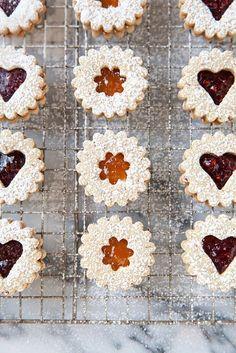 Pecan Linzer Cookies via @annieseats