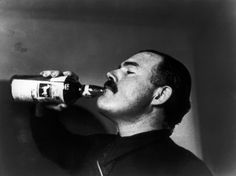 Ernest Hemingway by Robert Capa, just prior to the Battle of Teruel during the Spanish Civil War, 1937.