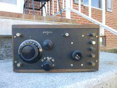 Antique Crosley Model 51 Regenerative Receiver Tube Radio Ham Amateur Nice #Crosley