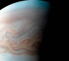 This view of Jupiter captures a turbulent region near the Great Red Spot with resolution better than any previous pictures from Earth or other spacecraft. It was taken by our Juno spacecraft with its JunoCam citizen science instrument. Space Photos, Space Images, Nasa Juno, Great Red Spot, Juno Spacecraft, Citizen Science, Close Up Portraits, Hubble Space Telescope, Interstellar