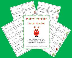 Here's a fun set of monster cards to help students practice basic multiplication and division facts.