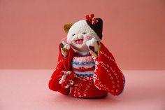 「 着物ねこ 28 」 - ちりめん猫のハンドメイド日和